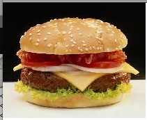 Stock picture of burger
