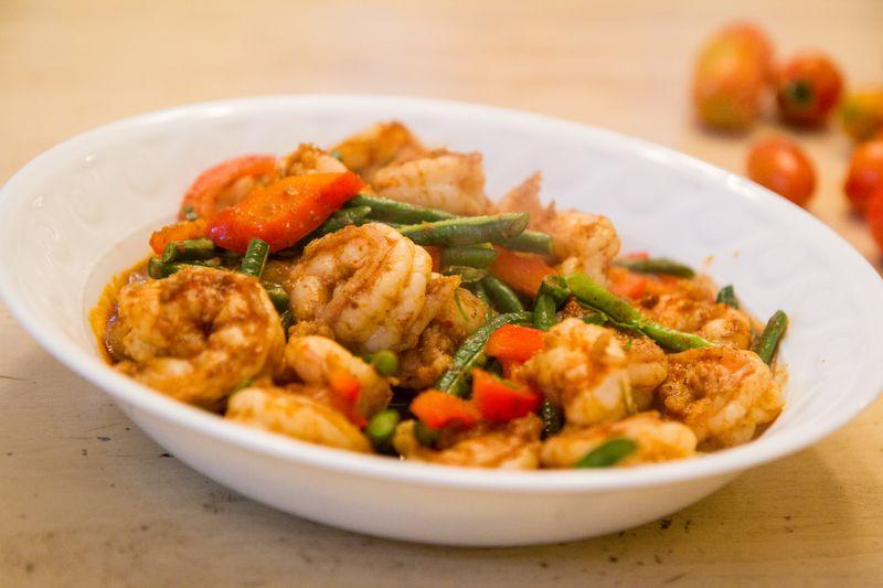 Thai-shrimp-prik-khing