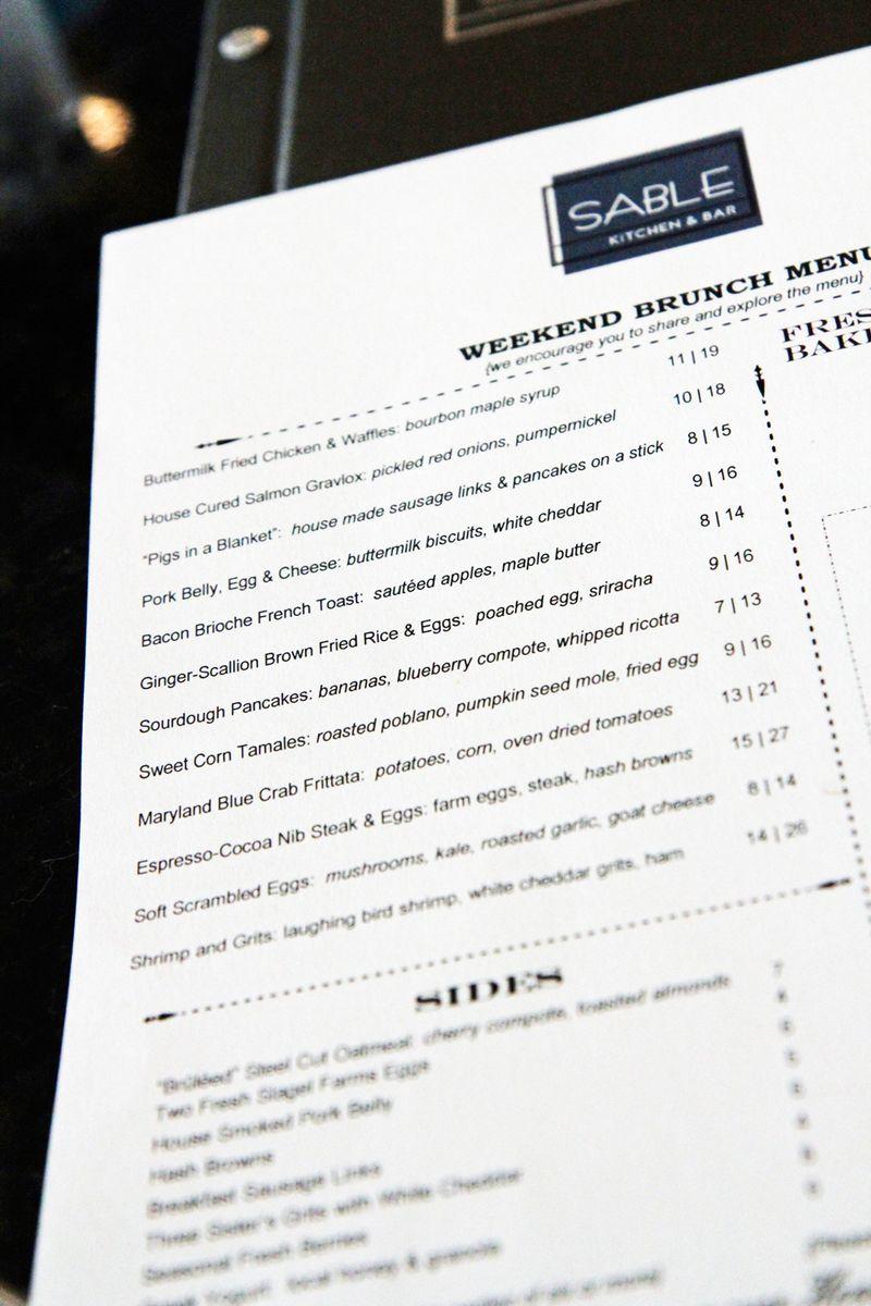 Sable-menu