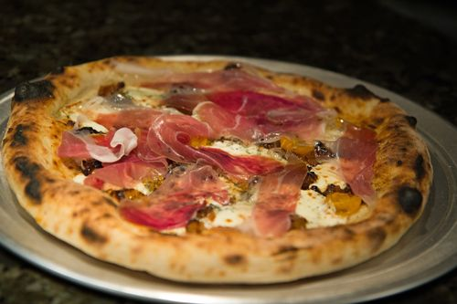 Pizza-proscuitto