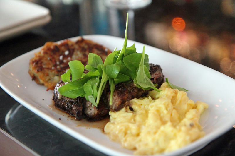 Sable steak and eggs