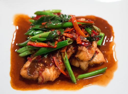 Red braised fish