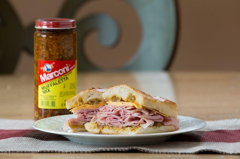 Ham muffaletta sandwich_2