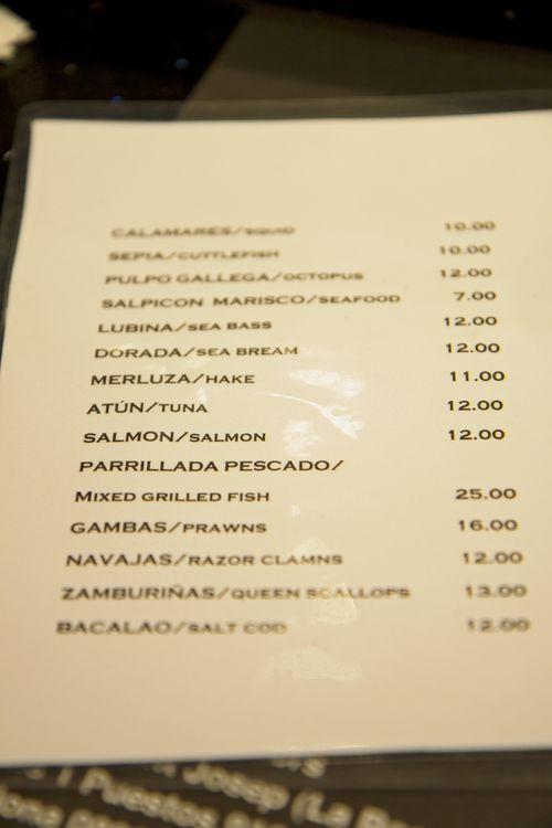 Bar clemens menu1