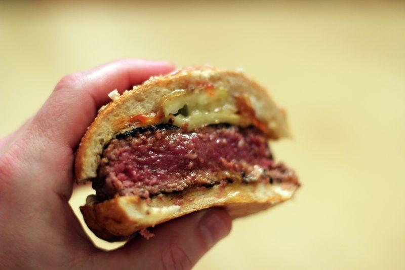 Dry aged burger sal