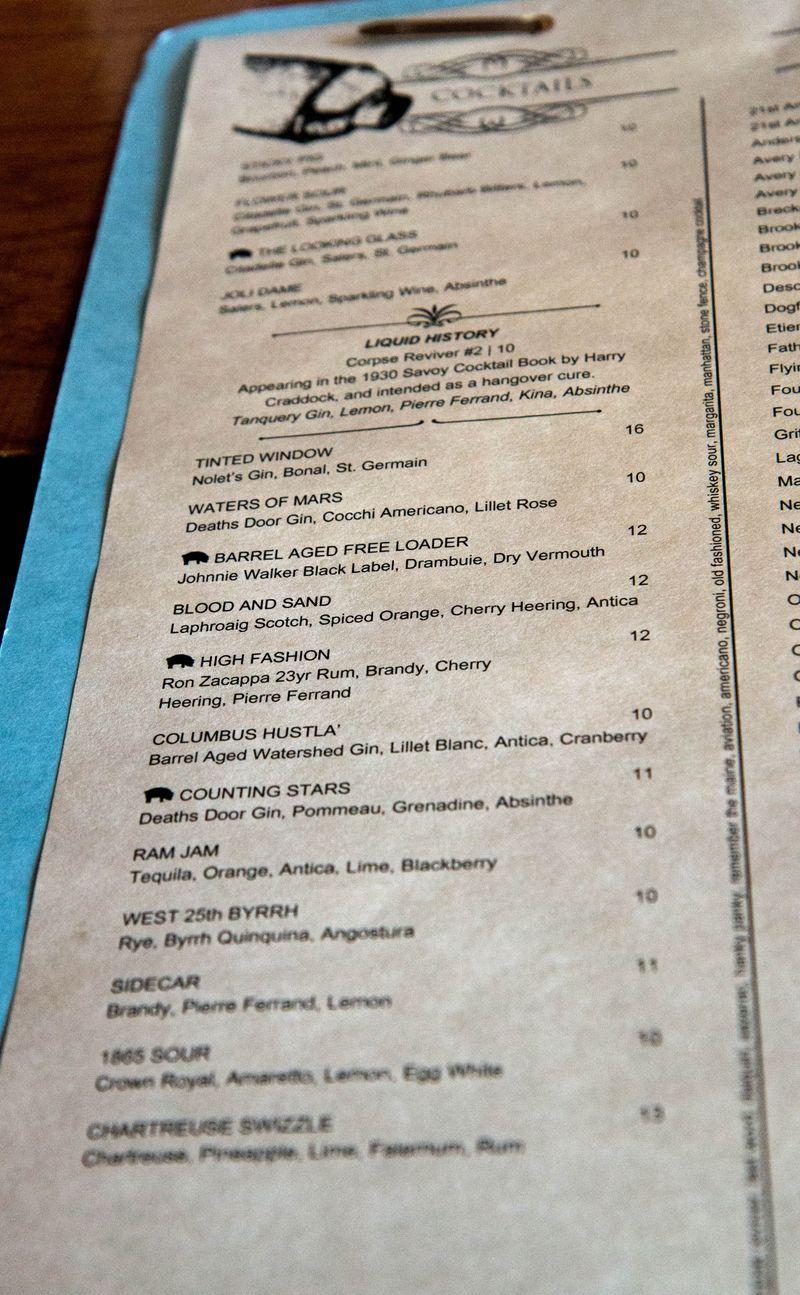 Black Pig cocktails
