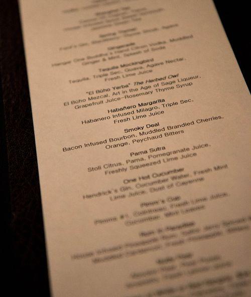 Chakra cocktail list