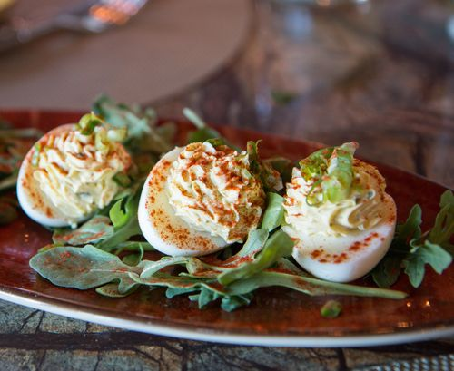 Mill house brewery deviled eggs