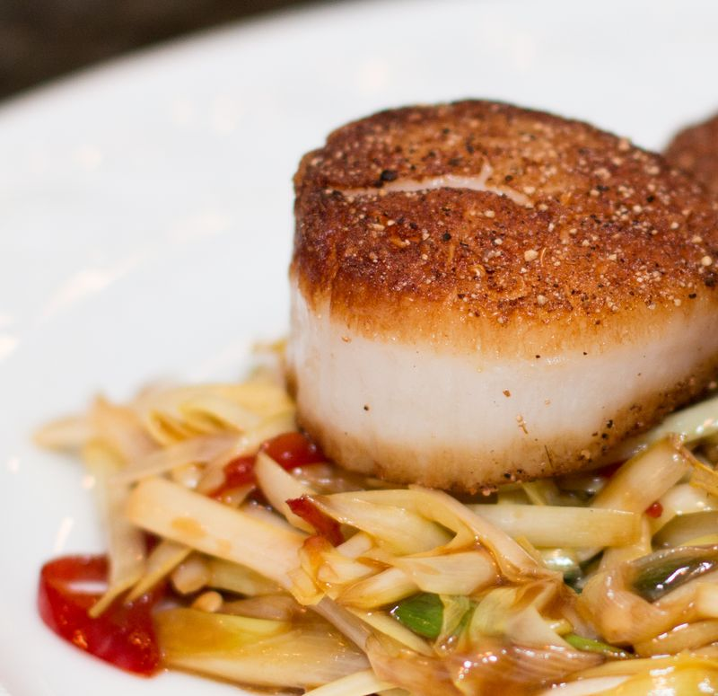 Salt and pepper scallops