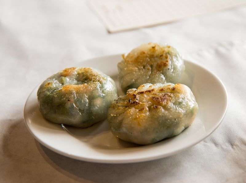 Dim sum villa chive dumplings