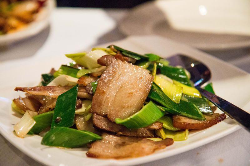 Lan sheng smoked pork