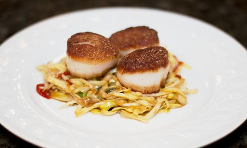 Scallops yellow chives2