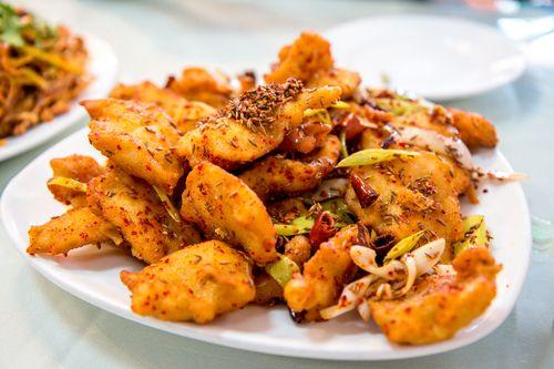 Lao dong bei crispy cumin fish