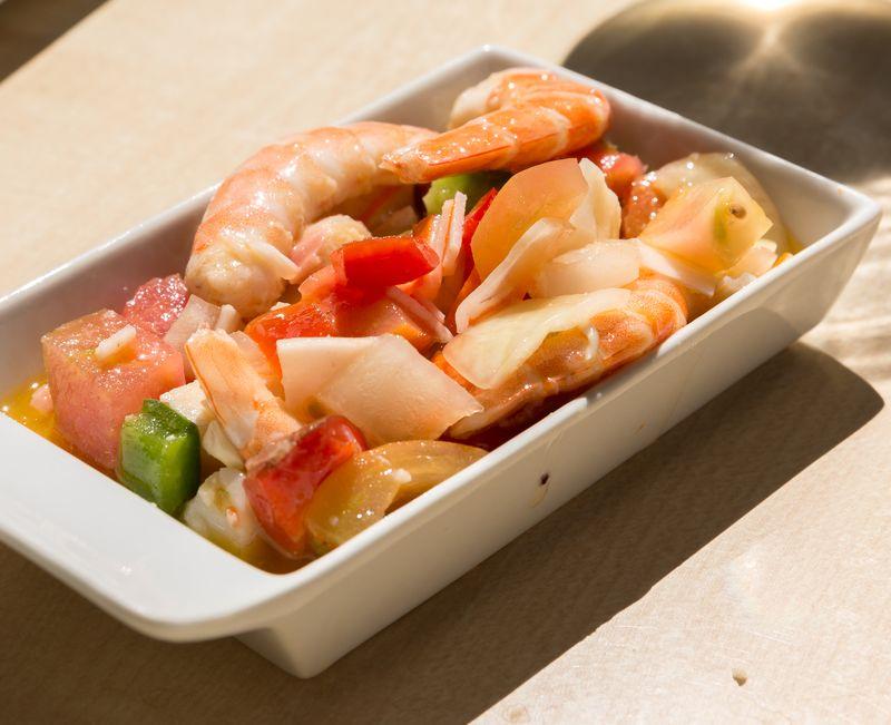 Jerez spain restaurante albores seafood salad