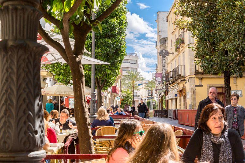 Jerez spain restaurante albores outside