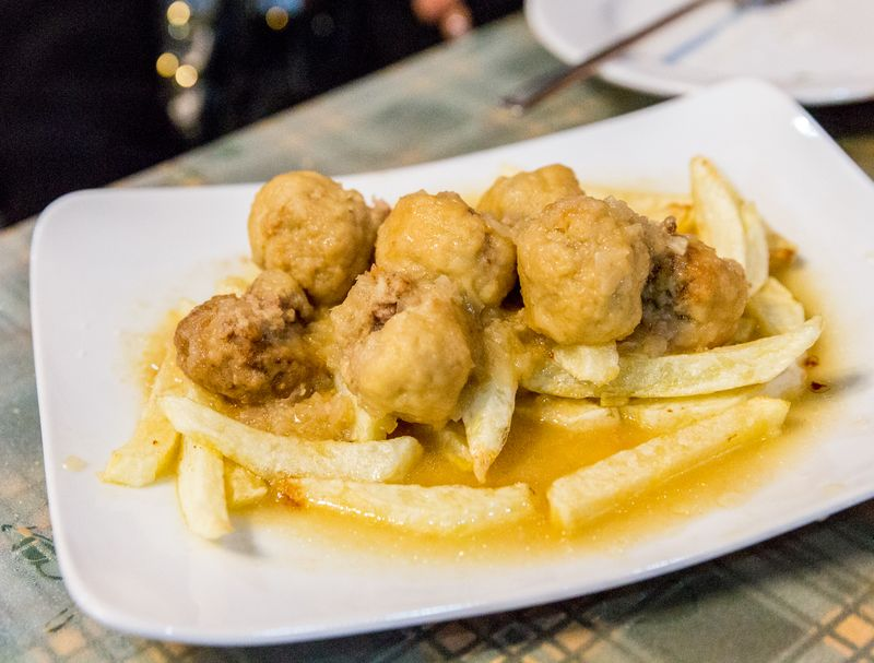 Jerez spain La taberna del Segura meatballs potatoes