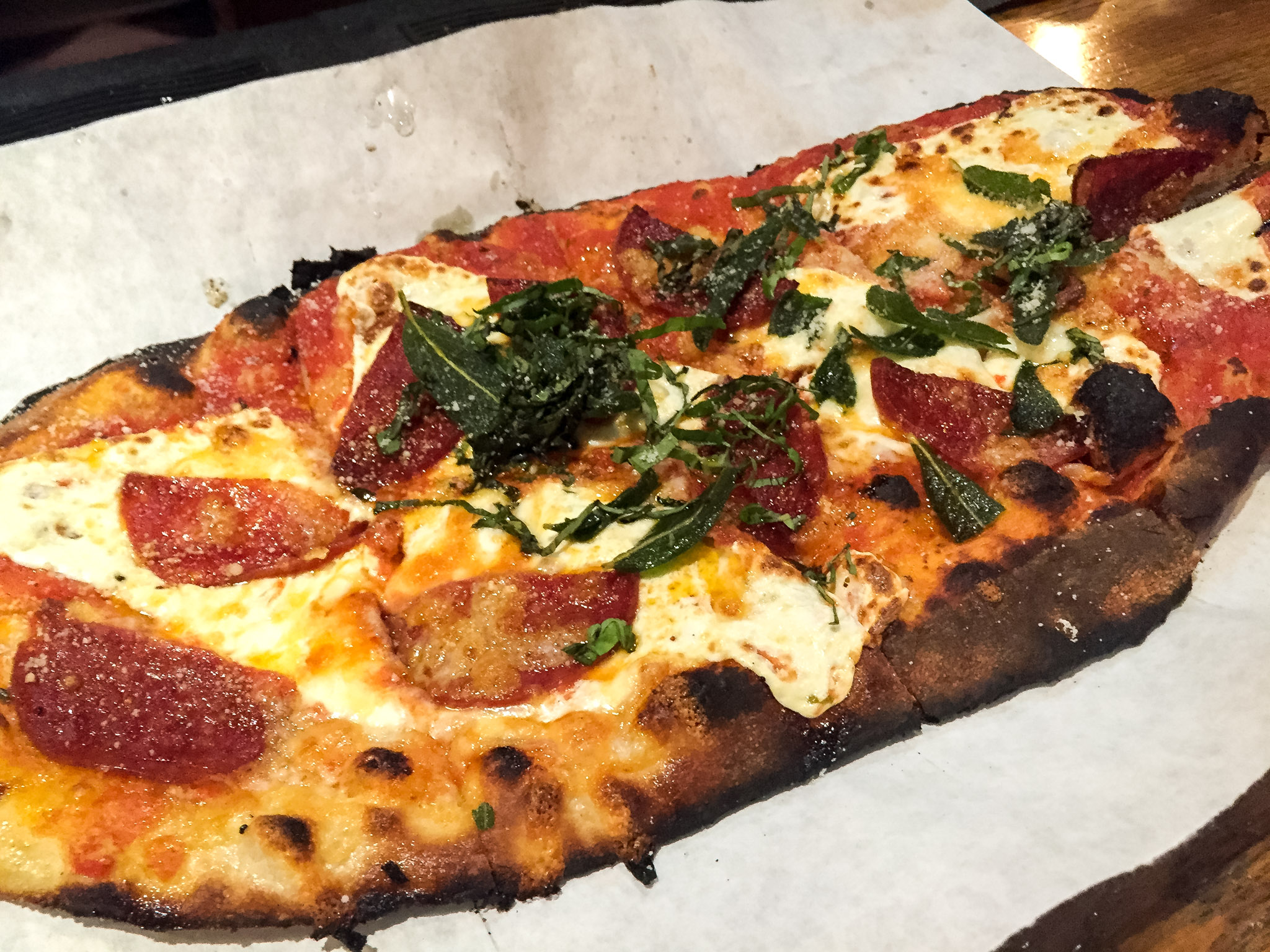 Hearth and Tap Montvale pizza