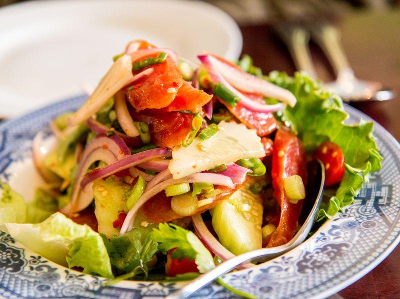 Ayada thai sausage salad
