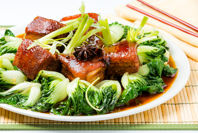 Red braised chinese pork belly